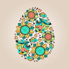Flower tracery egg