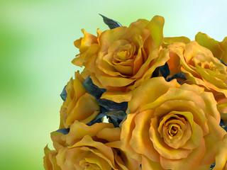 Closeup of rose flower bouquet