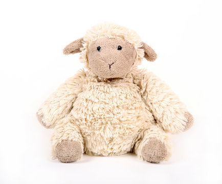 Toy lamb. Old handwork