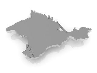 Map of Crimea.