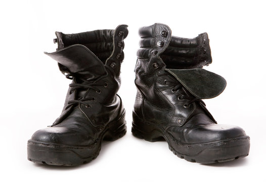 Black military boot