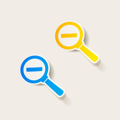 realistic design element: magnifier