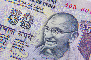 Indian 50 Rupee Currency