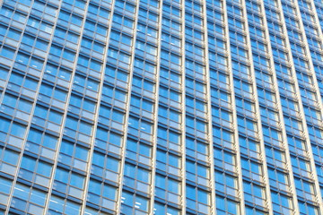 perfect blue glass high - rise corporate building