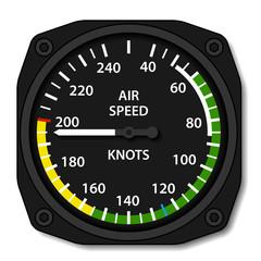 vector aviation aircraft airspeed indicator