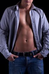 athletic muscular man
