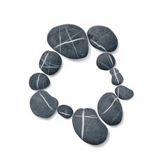 striped pebbles circle