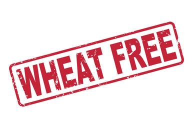 stamp wheat free with red text on white