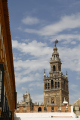 La Giralda, the famous cathedral of Seville