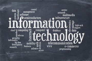 Wall Mural - information technology word cloud