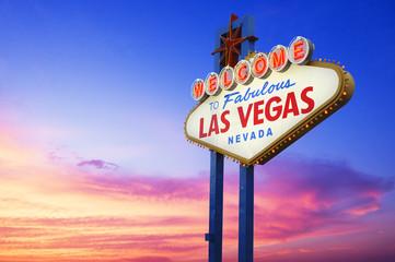 Fotobehang Las Vegas Welcome To Fabulous Las Vegas sign