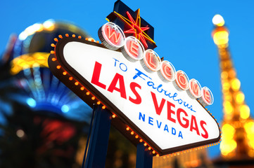 Aluminium Prints Las Vegas Welcome to Fabulous Las Vegas Sign Nevada
