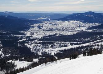 A alpine skiing resort Sheregesh