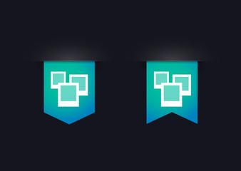 Ribbon icon set