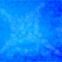 Beautiful blue abstract bokeh background
