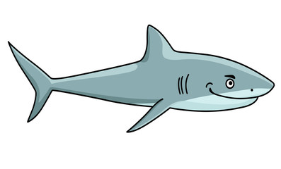 Smiling ferocious shark