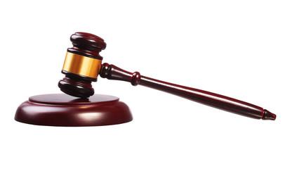 Judge gavel and soundboard isolated