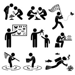 Man People Outdoor Activity Geologist Research Specimen