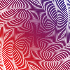 Design colorful twirl movement illusion background. Abstract str