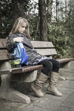 Bullied little girl