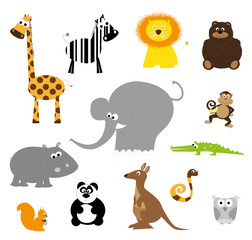 set of wild animals - vector illustration