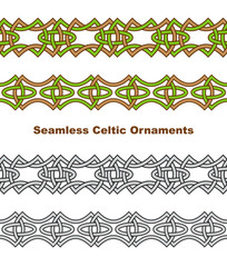 Seamless celtic borders.