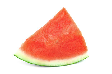 Single piece of watermelon