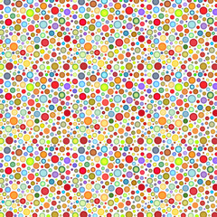 backdrop with round colored bubble pattern on white