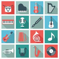 Music instruments - flat design
