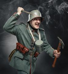 German infantryman during the first world war.