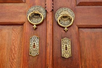 old historic wooden door