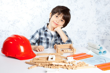 boy plans to build a house