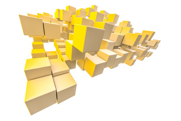 yellow shaded cubes