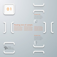 Infographics Background Parentheses