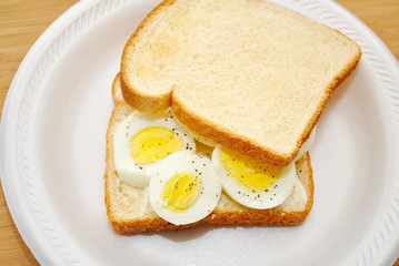 Whole Egg Sandwich for Lunch or Breakfast