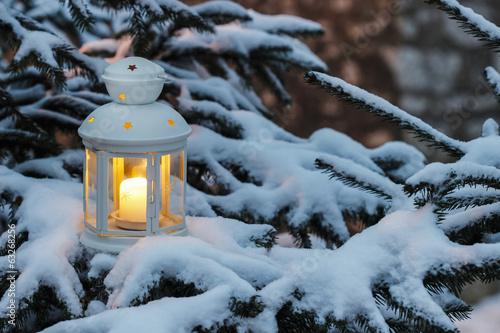 лампа свеча снег рождество lamp candle snow Christmas  № 3982781  скачать