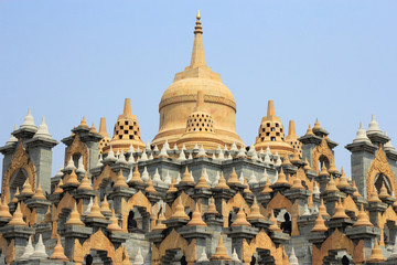 famous sandstone  pagoda  in thailand