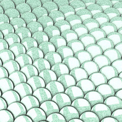 Shiny fish skin scales background, 3d
