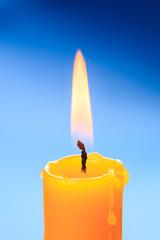 Candle flame closeup