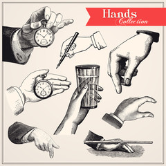 Fototapete - Hands Collection