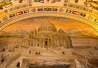 Vatican Museums - ceiling