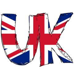 UK Flag Text