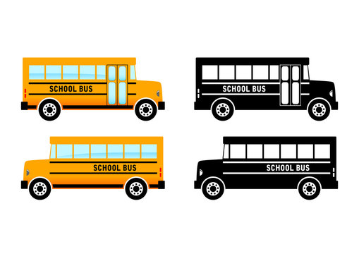 School bus on white background