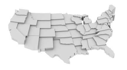 Usa map by states in levels
