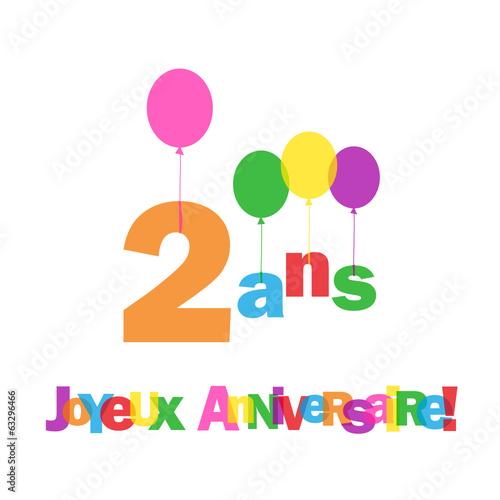 """Fabuleux Carte """"4 ANS ! JOYEUX ANNIVERSAIRE"""" (fête voeux félicitations  VI32"""