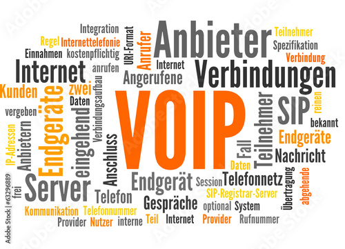 Voip Voice Over Ip Internettelefonie Stock Image And Royalty