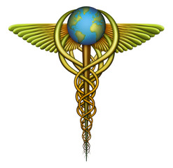 World Health Care Caduceus Medical Symbol