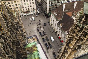 Vienna, Austria. View of the city from a survey platform