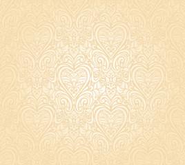 gentle peach seamless wedding floral  background