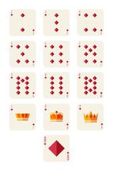 diamonds playing card set